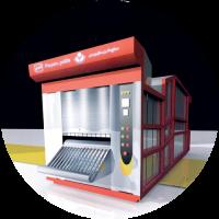 فر تونلی نیمه اتوماتیک بربری حرارت غیر مستقیم تشعشعی